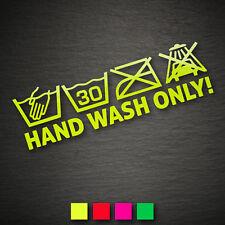 14009 voiture instructions de lavage autocollant 65x200 NEON main wash only lavage à la main JDM