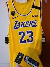 LeBron James 2019-20 Los Angeles Lakers icono Nike Authentic Jersey Talla 56 +2