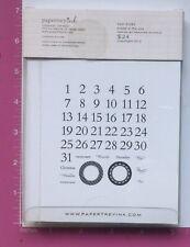 Papertrey ink cuenta regresiva para navidad transparente conjunto de sello
