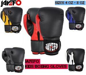 JAYEFO Kids Boxing Gloves Junior Punching Bag Children MMA Youth Boys 4 6 8 oz