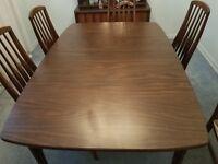 Mid Century Brutalist Walnut Dining Room Table made by Keller Furniture