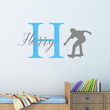 Personalizado Skate Adhesivo de pared Chicos Niños Dormitorio Infantil