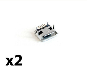 x2 PS4 Micro USB Port Component For PlayStation 4 Controller - Replacement Part