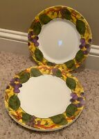 """Corning Corelle TUSCAN VINE 8 1/2"""" Luncheon Plates Set of 3   BARELY USED!!"""
