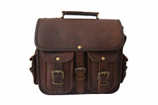 Men's Leather Bag Medium Messenger Laptop Shoulder Briefcase Handbag Brown Bags