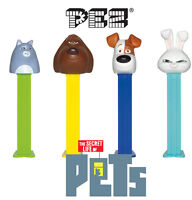 PEZ Heads SECRET LIFE OF PETS (Dispenser+2 Refills)(Character/Sweets/Candy/Gift)