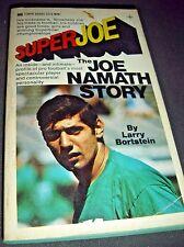 Super Joe The Joe Namath Story By Larry Bortstein Tempo Aug 1969 Paperback