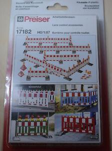 Preiser 17182 Arbeitsstellenzaun - H01:87