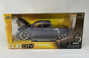 JADA 1:24 Dub City Kustoms - 2003 Dodge Ram - RARE Gray - Excellent!