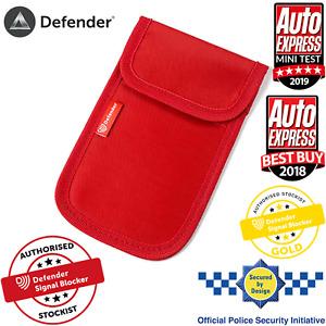 Car Key Signal Blocker Case Faraday Cage Fob Pouch Keyless RFID Blocking Bag Red