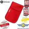Car Key Signal Blocker Faraday Cage Fob Pouch Keyless RFID Blocking Bag Red UK