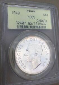 1949 Canada Silver Dollar MS65 PCGS