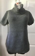 NWT UGG Selby Size S Charcoal Heather Turtleneck Pullover Tunic Pocket Sweater