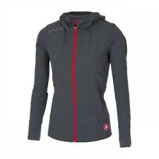 Castelli Ladies / Women's Race Day Zip Up Track Jacket L Grey With Red Zips BNWT