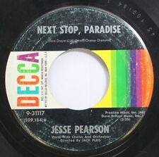 Hear! Rock & Roll 45 Jesse Pearson - Next Stop Paradise / Im Thinking Tonight Of