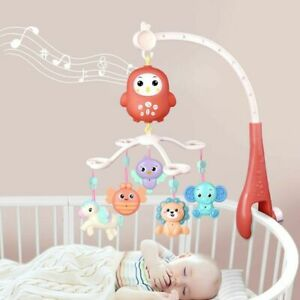 Baby Musical Crib Bed Bell Cot Mobile Moon & Star Dream Light Nursery Lullaby