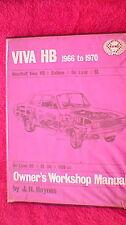Haynes Owners Workshop Manual - Vauxhall Viva HB Series 1966 - 1970 (1971) - Old