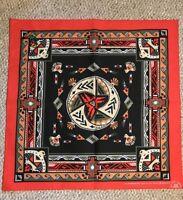 New Vintage Wamcraft Bandana Handkerchief Scarf USA Southwest Red doo rag
