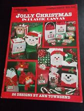 Jolly Christmas In Christmas Plastic Canvas Leaflet ~Leisure Arts ~ 1996