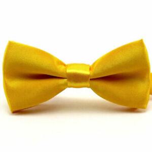 Baby Boy Bowtie Kid Toddler Solid Pre Tied Party Wedding Tuxedo Bow Tie Necktie