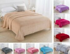 Soft Warm Shaggy Long Flannel Faux Fur Throw Blanket Sofa Double King Bed H150