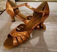 LATIN BALLROOM Copper Dance Shoes 2.5