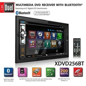 """Dual XDVD256BT Digital Multimedia 6.2"""" LED Backlit LCD Touchscreen Double DIN Ca"""