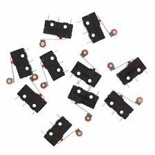 10 Pcs Mini Micro Limit Switch Roller Lever ArSPDT Snap Action LOT