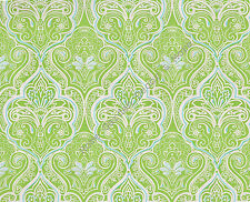 Green White Paisley Floral Vinyl Contact Paper Shelf Drawer Liner Peel and Stick