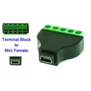 Mini USB female to terminal block USB plug connector MINI USB female Adapter