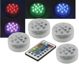4x LED Unterwasserlampe Licht Leuchten Pool Teich Lampen Garten IP68 23160