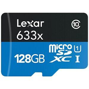 Lexar High-Performance 128GB Microsdxc™ 95MB/S 633x UHS-I C10 U3 Memorycard-Uk