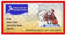 8 x Christmas stamps, From Santa Claus, Present / card Decorating Sticker. CH16