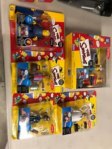 Simpsons Lot Fat Tony Carl Officer Lou Dr Hobart WOS MOC RARE Toy Intelli Tronic