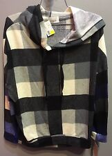 $64 NWT Vintage Havana Brand Checker Design Super Soft Hoodie Pullover  L