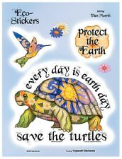 """(#35) Dan Morris CELESTIAL SAVE THE TURTLES 6"""" x 8"""" stickers (229) Earth Day"""