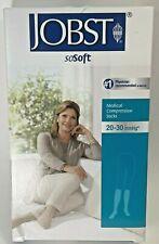 Jobst Medical Leg Wear soSoft Ribbed Knee High CT 20-30 mmHg Sand Large