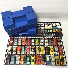Vintage années 1980 MATCHBOX 75 DIE CAST VOITURE & Carry Case Job Lot (2 x cas)