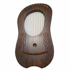 Lyre Harp 10 Strings Rose Wood/Rosewood Lyra Harp +Carrying Case/Strings Harp