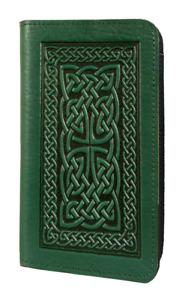 Oberon Design Celtic Braid Embossed Genuine Leather Checkbook Cover, US Made