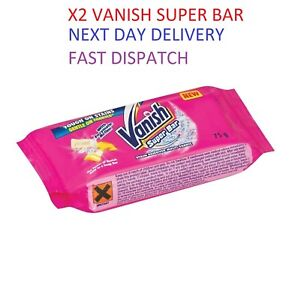 2 x Vanish Super Soap Bar Stain Remover Treatment with Enzymatic Action 75g