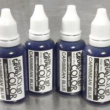 NEW 1 OZ. CARIBBEAN BLUE Liquid Color Fishing Soft Bait Lure Making plastisol