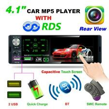 Single 1Din 4.1'' Touch Screen Car Stereo MP5 Player RDS AM FM Radio BT AUX USB