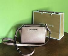 Michael Kors Selma Ballet / Metallic Pink Mini Crossbody Bag