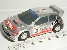 MICRO Scalextric - Peugeot 206 WRC Silver #3 (Grey Wheels) - Mint Cdn