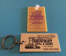 New listing Officers Club Showboat Hotel & Casino Las Vegas Nv Metal Keychain/ Plastic Fob