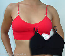 8dc7ee177200 One seamless bra top with removable straps BLACK smooth FREE SHIPPING TO  U.S.A.