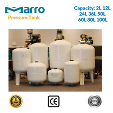 Quality Water Pressure Tank 2/12/24/36/50/60/80/100 Litre  - Suit Water Pumps