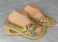 NEW Skechers Cali Ladies Lemon Sherbert Sweets Wedge Mules Sandals Size 7
