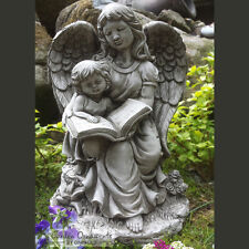 Guardian Angel Hand Cast Stone Garden Ornament Statue Grave Memorial ⧫onefold-uk